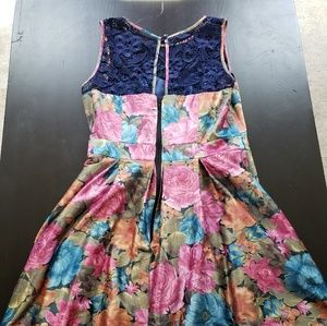 1950s Multi-colored dress from Tatyana's Boutique